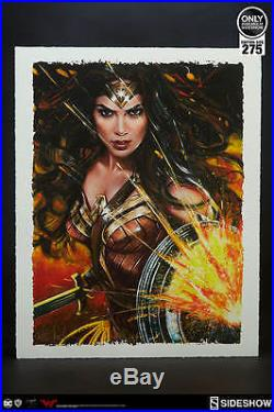 Sideshow Wonder Woman Art Print by Ozone Productions Exclusive Framed Brand New