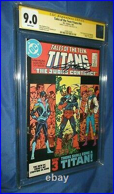 TALES OF THE TEEN TITANS #44 CGC 9.0 SS Signed by George Perez Nightwing