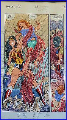 Wonder Woman #114 Full 22 Page Story Original Painted Production Art-john Byrne