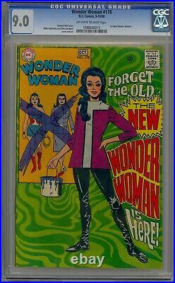 WONDER WOMAN 178 CGC 9.0 OWithW 1968 1ST NEW WONDER WOMAN (COVER) SCARCE IN GRADE
