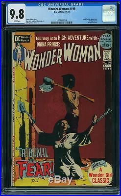 Wonder Woman #199 Cgc 9.8 White Pages Highest Graded