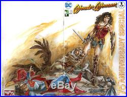 WONDER WOMAN #1 HERO INITIATIVE VARIANT CGC 9.4 SS Signed & Sketch Mike Grell