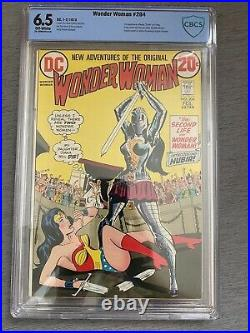 WONDER WOMAN #204 CBCS 6.5 FN+ 1st APPEARANCE OF NUBIA WWs Sister OFF WHITE pgs