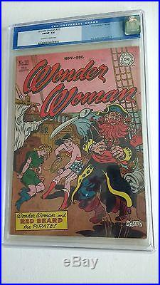 WONDER WOMAN 20 CGC 7.0 0055243013 Cool Red Beard The Pirate cover