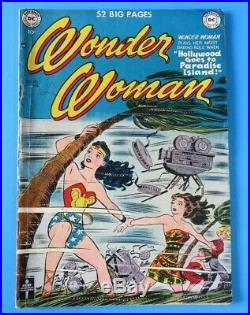 WONDER WOMAN #40 1st SERIES 1950 DC GOLDEN AGE COMIC BOOK Mid Grade