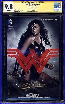 Wonder Woman 50 Cgc Ss 9.8 Signed By Gal Galdot Movie Justice League