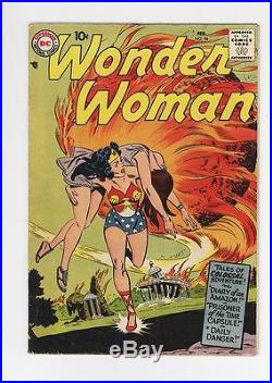 Wonder Woman #96 Unrestored MID Grade Very Scarce Early Silver Age 1958