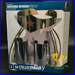WONDER WOMAN Bracelet TIARA & LASSO Replica SET Statue DC COMICS Collectibles