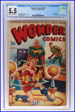 Wonder Comics #20 Better 1948 CGC 5.5 Airbrushed cover. Last issue