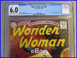 Wonder Woman #105 Cgc 6.0 Origin Of Wonder Woman DC Scarce 1959