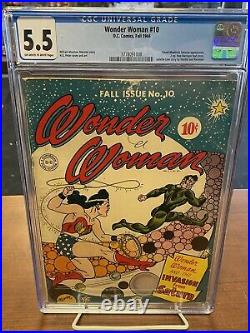 Wonder Woman #10 CGC 5.5 Fall 1944 Off-white To White Pages! Make Offer