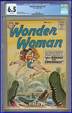 Wonder Woman #110 (CGC 6.5 White) Rare 1959 DC Early Silver Age / Only 14 Graded