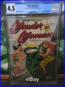 Wonder Woman #11 Cgc 4.5 Golden Age Key First Appearance Of Hypnota