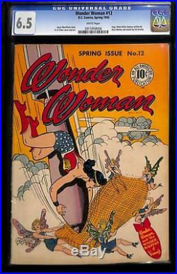 Wonder Woman #12 (1945) CGC 6.5 White Pages WWII Bomb Cover DC
