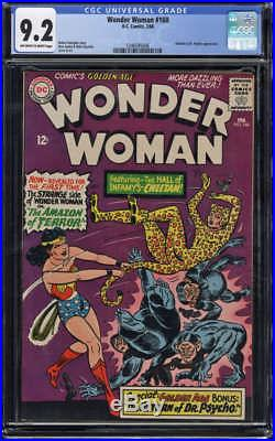 Wonder Woman #160 CGC 9.2 NM- OWithW Pages Cheetah & Dr Psycho app