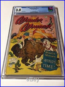 Wonder Woman 17 Cgc 3.0 Owithw Pages Golden Age