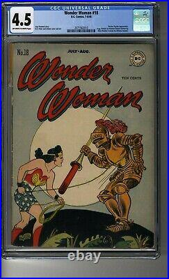 Wonder Woman (1942) # 18 CGC 4.5 OWithWhite Pags Dr Psycho App Harry G Peter