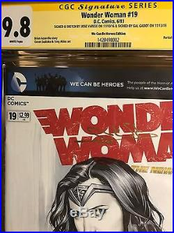 Wonder Woman #19 blank CGC 9.8 Signed by Gal Gadot Sketch By Jose Varese