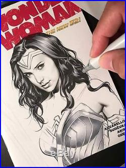 Wonder Woman #19 blank Sketch By Jose Varese And Signed By Gal Gadot. 1 Of A Kind