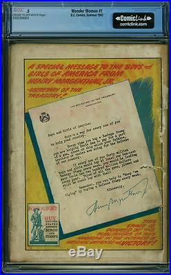 Wonder Woman #1 CGC 0.5 DC 1942 After All Star #8! Golden Age Key! UNRESTORED
