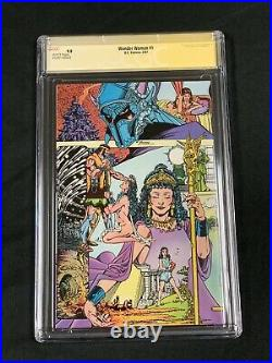 Wonder Woman 1 CGC SS 9.8 Signed Perez 1987 White Pages Key Movie Dc