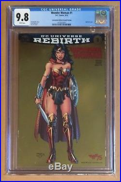 Wonder Woman #1 Gold Foil Variant Cgc 9.8 Nycc Convention Jim Lee Cover