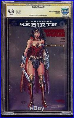 Wonder Woman #1 SDCC Exclusive Variant CBCS 9.8 Signed by Liam Sharp DC Rebirth