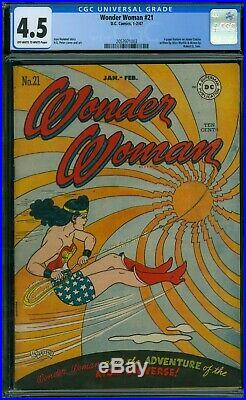Wonder Woman 21 CGC 4.5 OWithW Pages