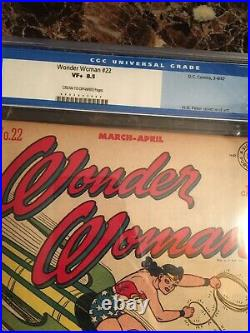 Wonder Woman #22 CGC 8.5 CR/OW The Color Thief UNPRESSED OLD LABEL BEAUTY
