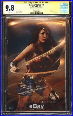 Wonder Woman 26 Sdcc Con Chrome Foil Variant Cgc Ss 9.8 Signed By Gal Gadot Mint