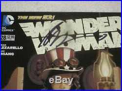 Wonder Woman 28 Steampunk Variant Signed By Brian Azzarello