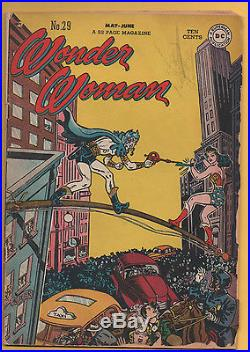 Wonder Woman #29 DC Comics 1948 1st Appearance of Minister Blizzard GD