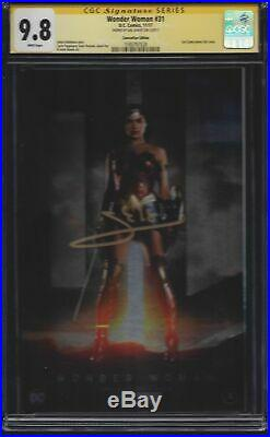 Wonder Woman #31 Foil variant photo cover CGC 9.8 SS Signed by Gal Gadot