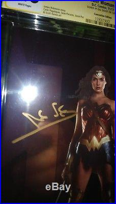 Wonder Woman #31 NYCC Foil Photo Cover CGC SS 9.8 Signed by Gal Gadot