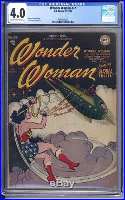 Wonder Woman #32 Cgc Graded Vg 4.0 H. G Peter Cover And Art. 1948