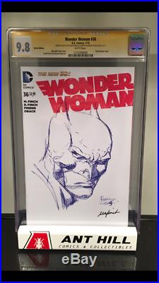 Wonder Woman #36 Original Sketch by David Finch and Meredith Finch CGC SS 9.8