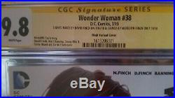 Wonder Woman #38 CGC 9.8 variant signature series David Finch White Pages