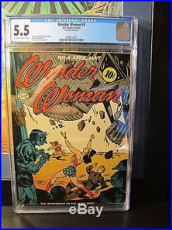 Wonder Woman #4 CGC 5.5 DC 1943 Off-White to White Pages