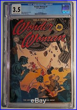 Wonder Woman 4 Early Golden Age 3.5 CGC