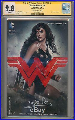 Wonder Woman #50 CGC 9.8 SS Signed by Gal Gadot 006 Justice League Movie WB