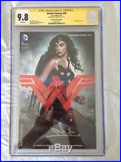 Wonder Woman 50 Movie Poster Variant CGC SS 9.8 Signed by Gal Gadot