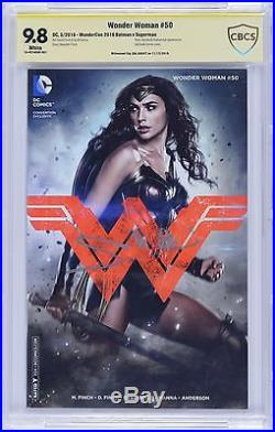 Wonder Woman #50 Photo Cover Variant CBCS 9.8 SS Signed by GAL GADOT not CGC