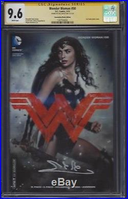 Wonder Woman #50 Photo cover variant CGC 9.6 SS Signed by Gal Gadot