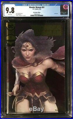 Wonder Woman #51 CGC 9.8 Stanley Artgerm Lau DC Boutique Edition Gold Foil Cover