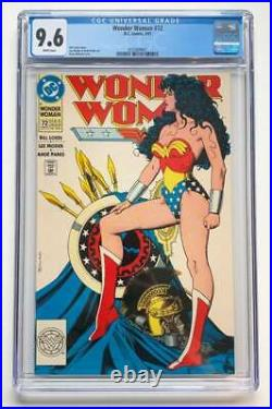 Wonder Woman #72 CGC 9.6 White Pages Classic Bolland Cover DC Comics 1993