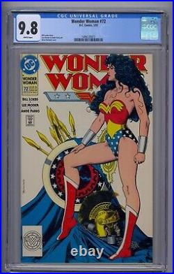 Wonder Woman #72 Cgc 9.8 Classic Bolland Cover