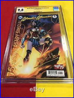 Wonder Woman 75th Anniversary Special #1 CGC 9.8 WP Signed by Gal Gadot, Rebirth