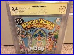 Wonder Woman 7 9.4 Cbcs Ss Signed By George Perez & Len Wein 1st Cheetah