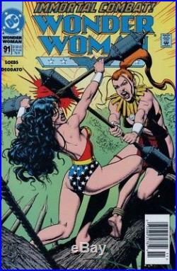 Wonder Woman #91 p 17, The Contest, Sexy, Mike Deodato Jr, DC, 1994