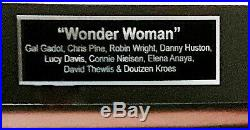 Wonder Woman Autographed Movie Poster Gal Gadot + Chris Pine with COA
